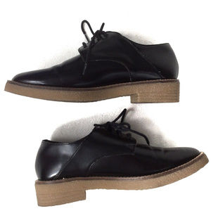 932a5301b56 Forever 21 Shoes - F21 Patent Leather Lace Up Oxfords Loafers Black 6